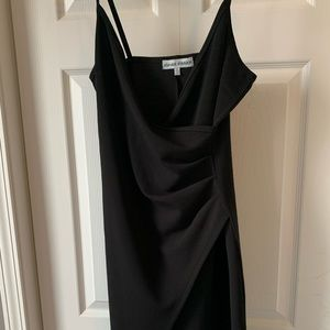 Almost famous strappy black dreas slit large